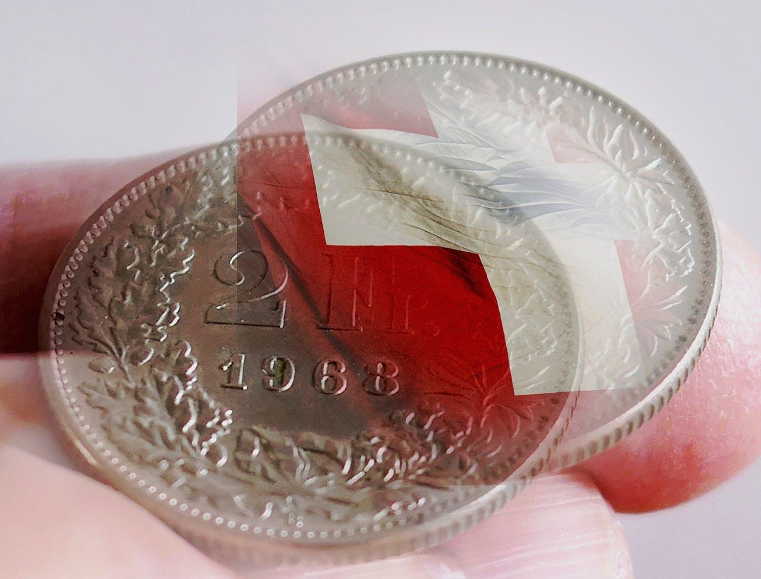 Geld Franken Münze