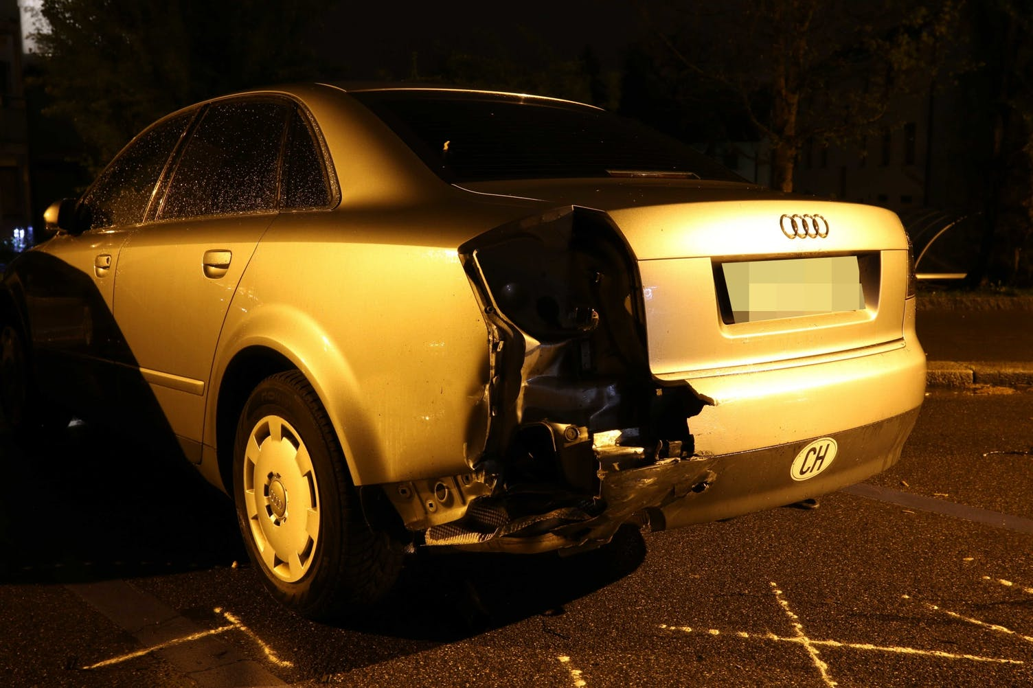 Unfall Parkplatz