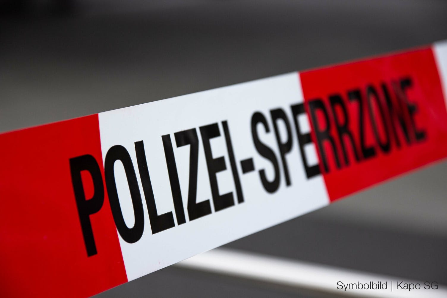 Polizei Sperrzone