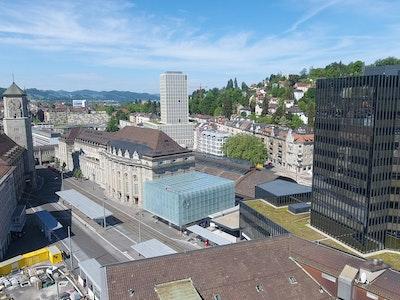 Bahnhofplatz von St.