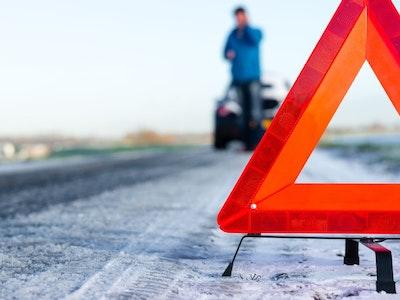Schnee Unfall