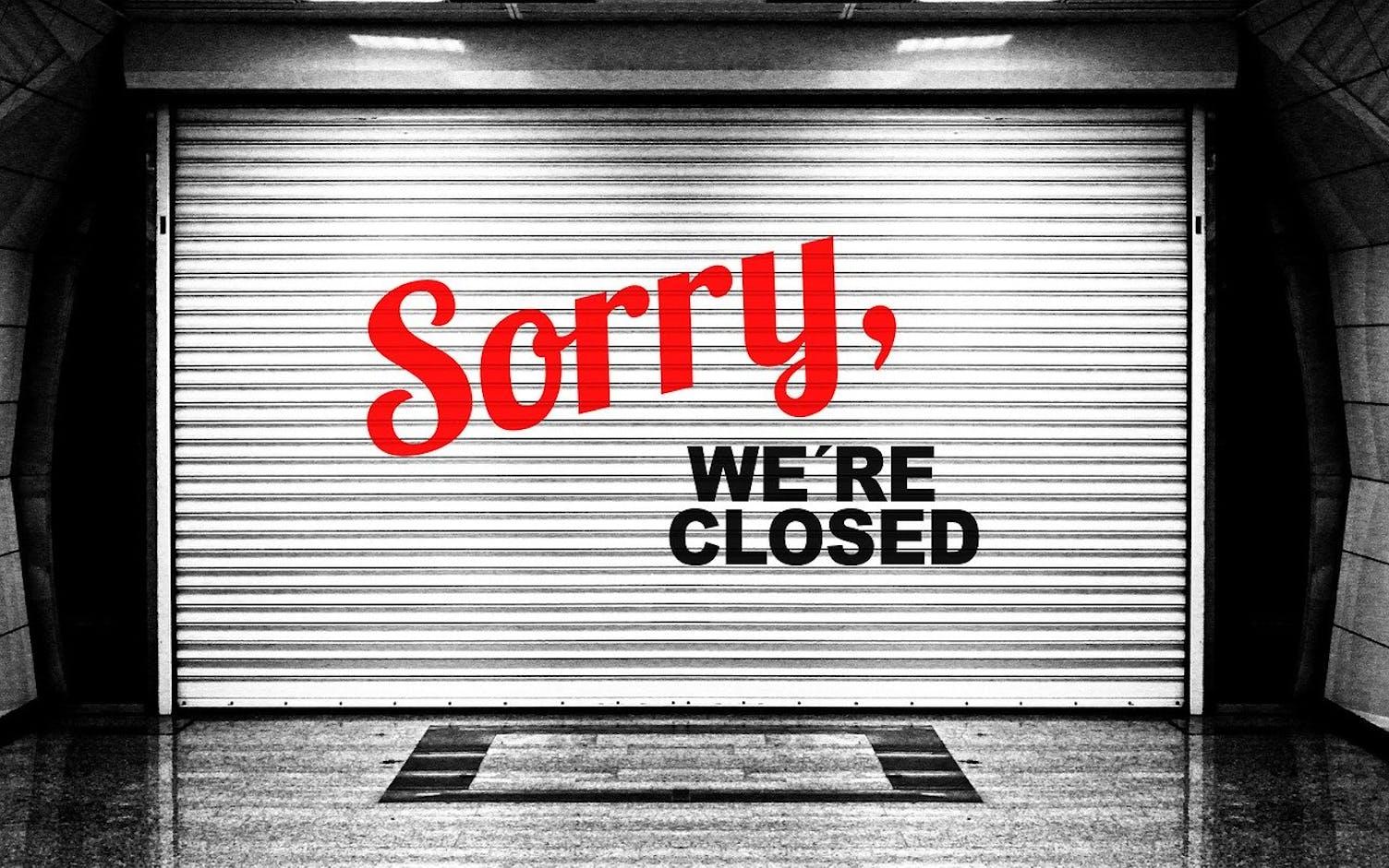 Geschlossen closed